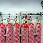 установка автоматического газового пожаротушения