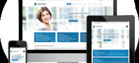 Мобильная версия корпоративного сайта небольшой фирмы